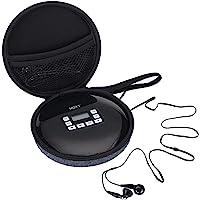 Draagbare CD-speler met bluetooth, persoonlijke compacte CD-speler met hoofdtelefoon, draagbare CD-speler met elektronische overspringbeveiliging en anti-shock-functie, kleine muziekspeler, CD-speler opbergtas