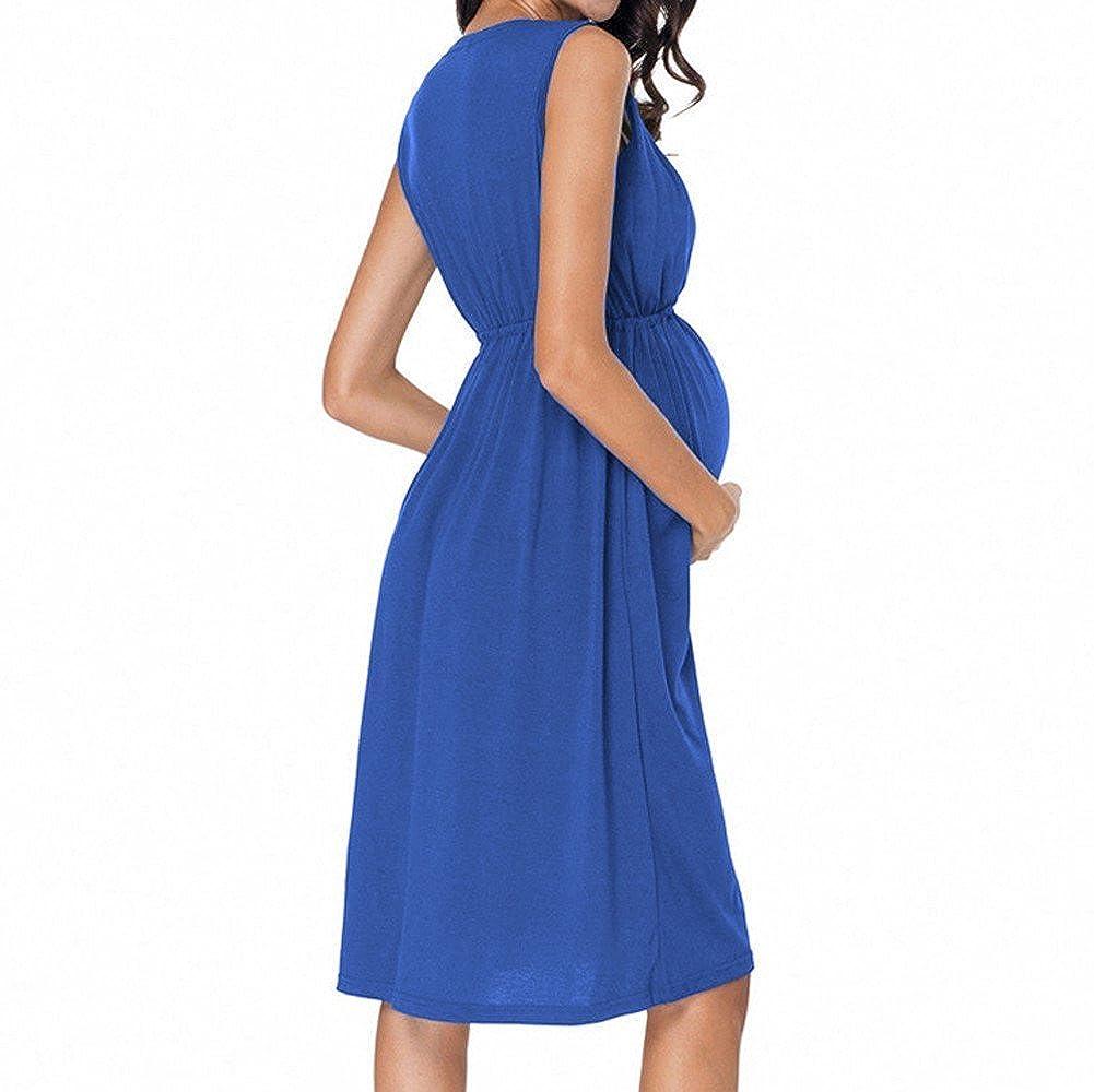 0f39e45f3 Mini Túnica Vestido Mujer Embarazada Chaleco De Verano Vestido De Maternidad  Foto Vestido