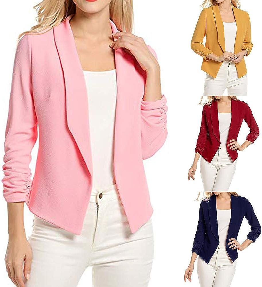 ZYEE Women Coat 3//4 Sleeve Blazer Short Coat Cardigan Suit Jacket