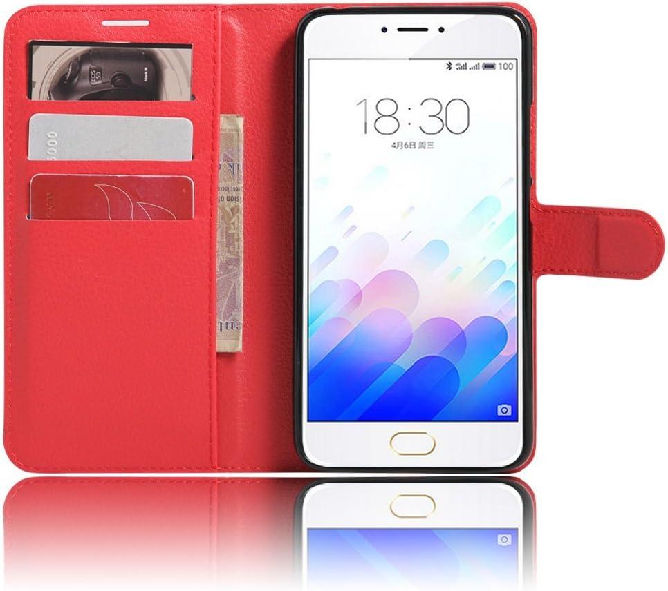 Meizu M3 Note Funda para Meizu M3 Note Cover, VIFLYKOO Flip Cover Tapa de Cuero de La PU Case de la Cartera con Ranuras para Tarjetas Incorporadas para Meizu M3 Note Smartphone