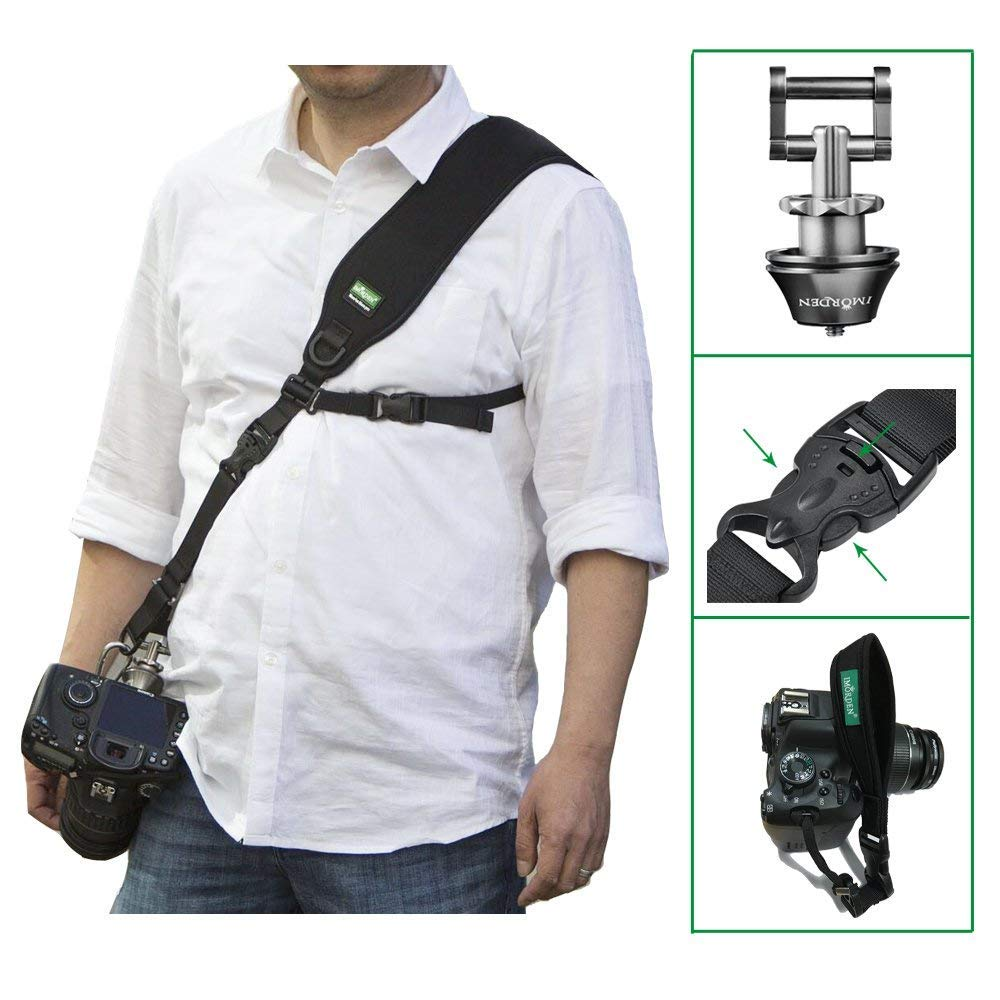 [Update] IMORDEN Falcon F-2 Anti-Theft Shoulder/Neck Sling DSLR Camera Strap with Exclusive Acra-Swiss Quick-Release Plate(1/4'') for Left/Right-Hander Man/Woman, with Safety Tether, Wrist Strap