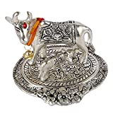 Aatm Decorative & Attractive Brass Figurine Statue Handicraft in Cow & Calf Shape| |Holy Kaamdhenu| |Best Use for Home Decoration/Shop|