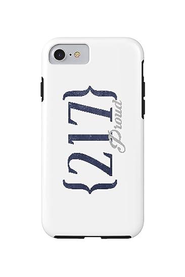 Amazoncom Springfield Illinois Area Code Blue IPhone - 217 area code
