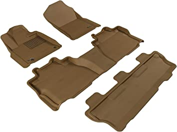 Husky Liners Custom Fit Second Seat Floor Liner for Select Toyota Sequoia Models Tan