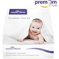 Variant of Easy@Home Ovulation (LH) and Pregnancy (HCG) Combo Urine Test Strips Kit (25 LH + 25 HCG)