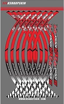 Psler Motorrad Felgenrandaufkleber Rim Stripes Aufkleber Für S1000rr Rot Weiß Auto