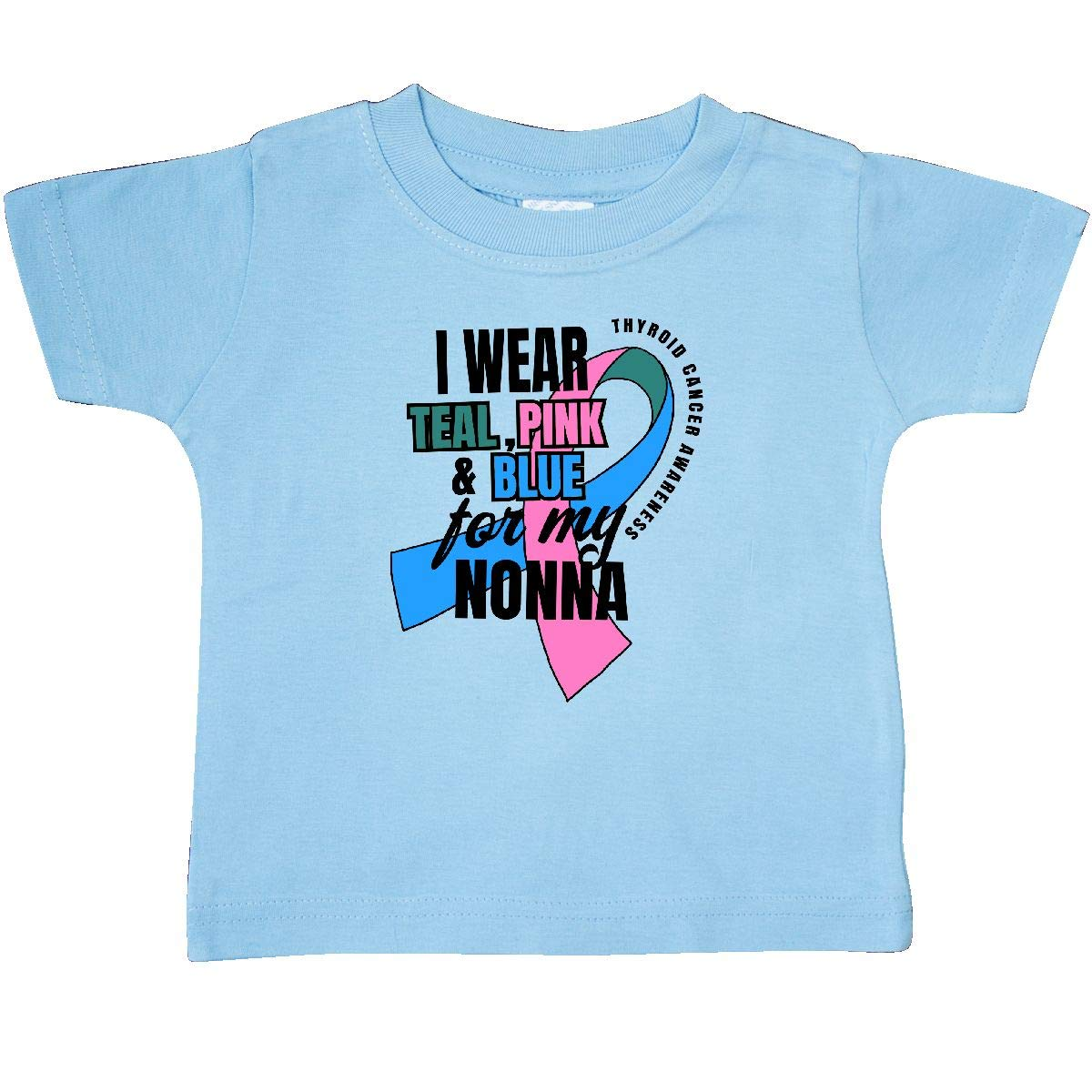 inktastic I Wear Teal Pink and Blue for My Nonna Baby T-Shirt