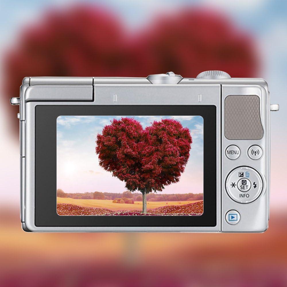 AFUNTA Displayschutzfolien f/ür Canon EOS M6 M100 2 Packs Anti-Kratz-Hartglas-Schutzfolien f/ür DSLR-Digitalkamera