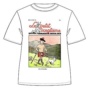 hot-vente authentique vente moins chère vraie affaire Moulinsart T-Shirt 100% Coton Tintin et Milou Le Petit ...