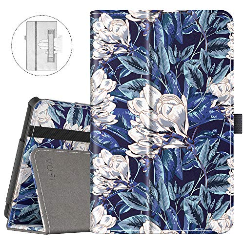 - VORI Case for All-New Fire 7 Tablet (9th Generation, 2019 Release) Folio Smart Cover with Auto Wake/Sleep, Mysterious Flower Fairy