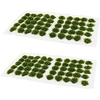 100 Pcs Static Grass Tuft Model Grass Tufts Railway Artificial Grass Miniature Wargaming Terrain DIY Model Railroad…