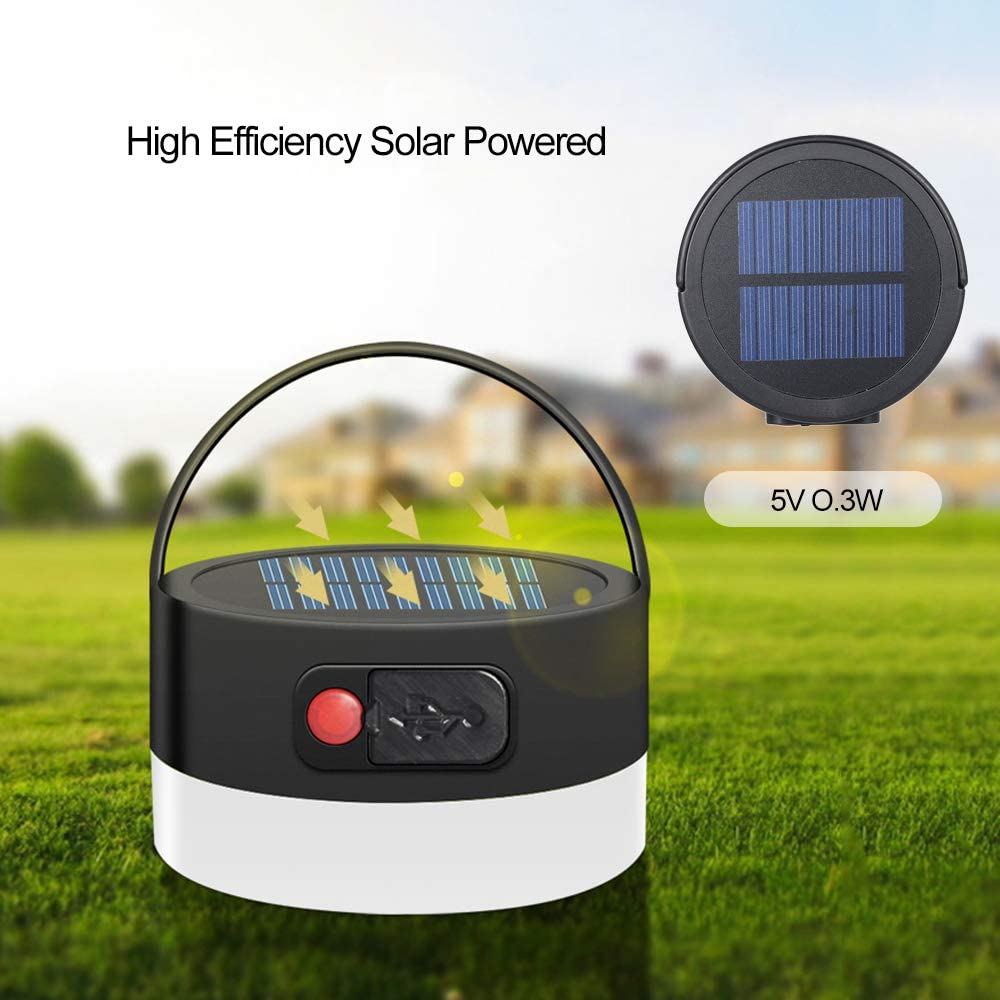 Solar Port/átil Led Linterna De Camping Luces Al Aire Libre USB Producto De Punto De Venta FONCBIEN Camping Luz Solar