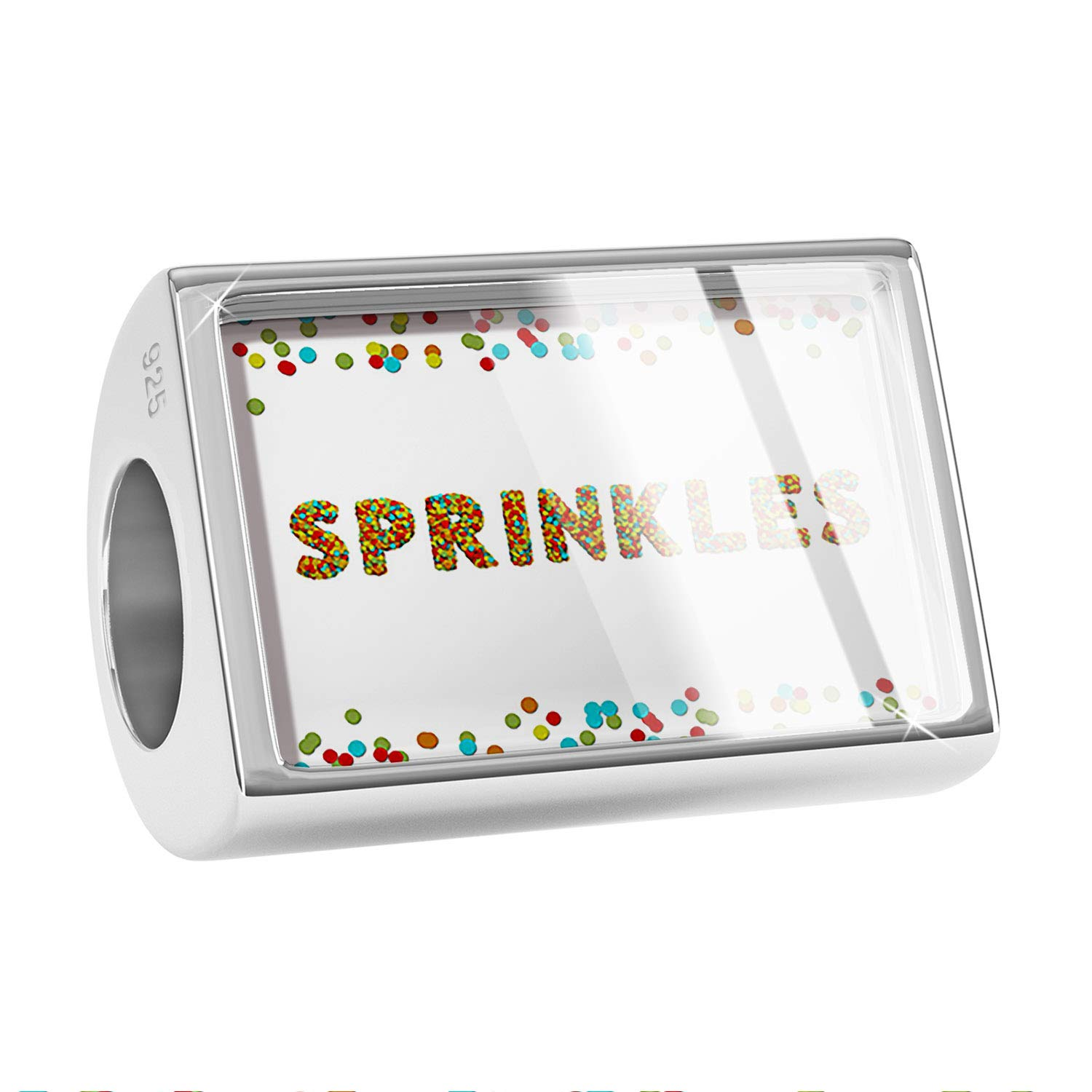 NEONBLOND Custom Charm Sprinkles Birthday Party Confetti 925 Sterling Silver Bead