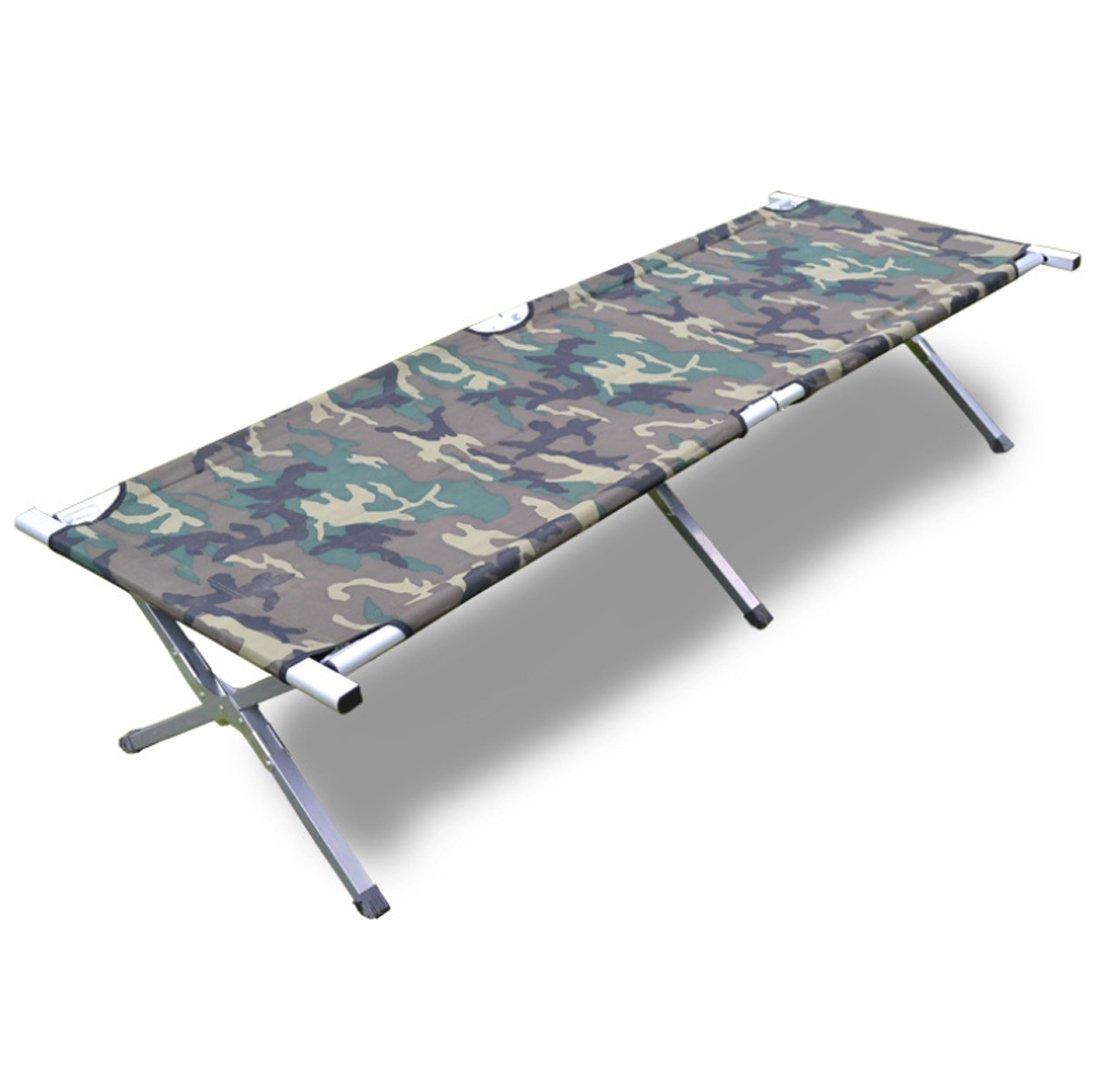 JJY Camouflage Camp Bett Einzelbett Stahlrohr Halterung Wasserdichte Oxford Tuch Strand Falten Lounge Chair Mittagspause