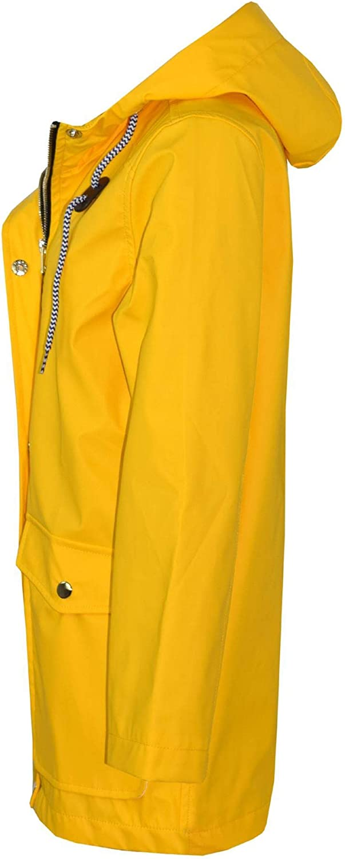 A2Z 4 Kids/® Kids Girls Boys PU Raincoat Jackets Designers Yellow Windbreaker Waterproof Cagoule Hooded Rainmac Shower Resistant Coats Age 5 6 7 8 9 10 11 12 13 Years