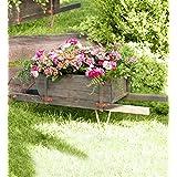 Extra Large Decorative Wood Garden Wheelbarrow Outdoor Decorative Planter 50.5 L x 17 W x 16.25 H
