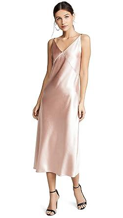 fb08ded9688b Amazon.com: Vince Women's V-Neck Bias Dress: Clothing
