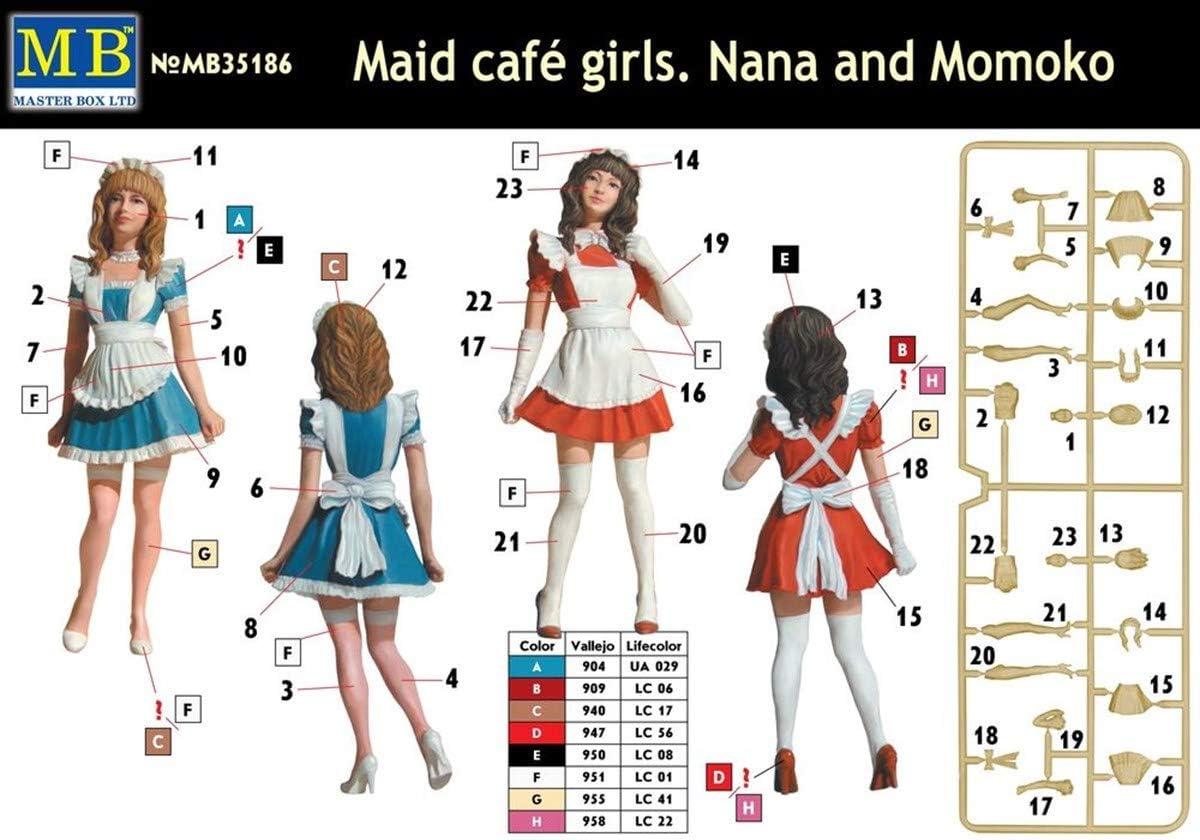 Master Box Ltd MB35186/ /Figurines des serveuses Nana et Momoko