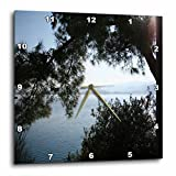 3dRose dpp_128309_3 Overhanging The Aegean Sea a Silhouette of Pine Trees on a Calm Sea Wall Clock, 15 by 15-Inch Review