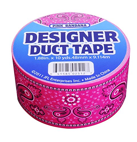 JFL 2534 Pink Bandana Duct Tape 1.88 in X 10 yds (48 mm x 9.114 m)