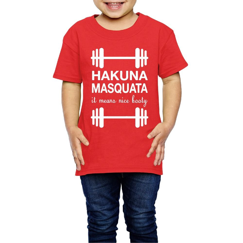 Yishuo Youth Hakuna Masquata Fashion Travel Tee Short Sleeve Red 3 Toddler