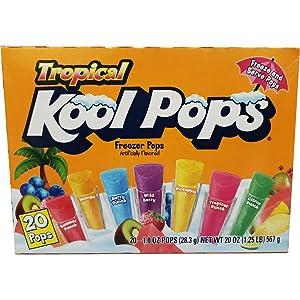 (Pack of 16, 320 Ct) Kool Aid Freezer Pops Tropical Flavors