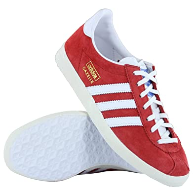 Adidas Gazelle OG Red White Suede Leather Damen Trainers: Amazon.de ...
