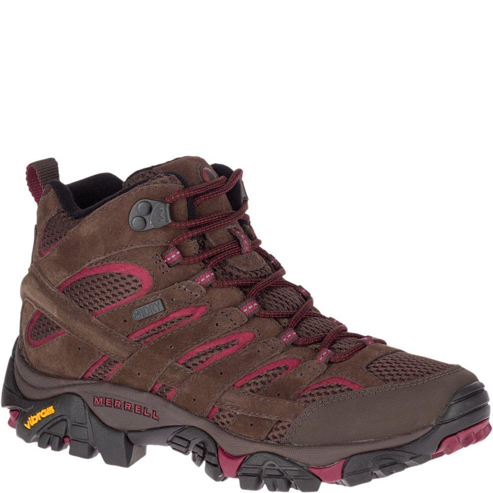 Merrell Women's Moab 2 MID Waterproof Sneaker, Espresso, 10.5 M US by Merrell