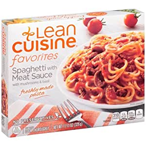Lean cuisine spaghetti with meat sauce pasta 11 5 oz pack for Are lean cuisine meals healthy