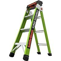 Little Giant Ladders, King Kombo, Professional, 2-6 foot, A Frame, Fiberglass, Type 1AA, 375 lbs weight rating, (13470-001)