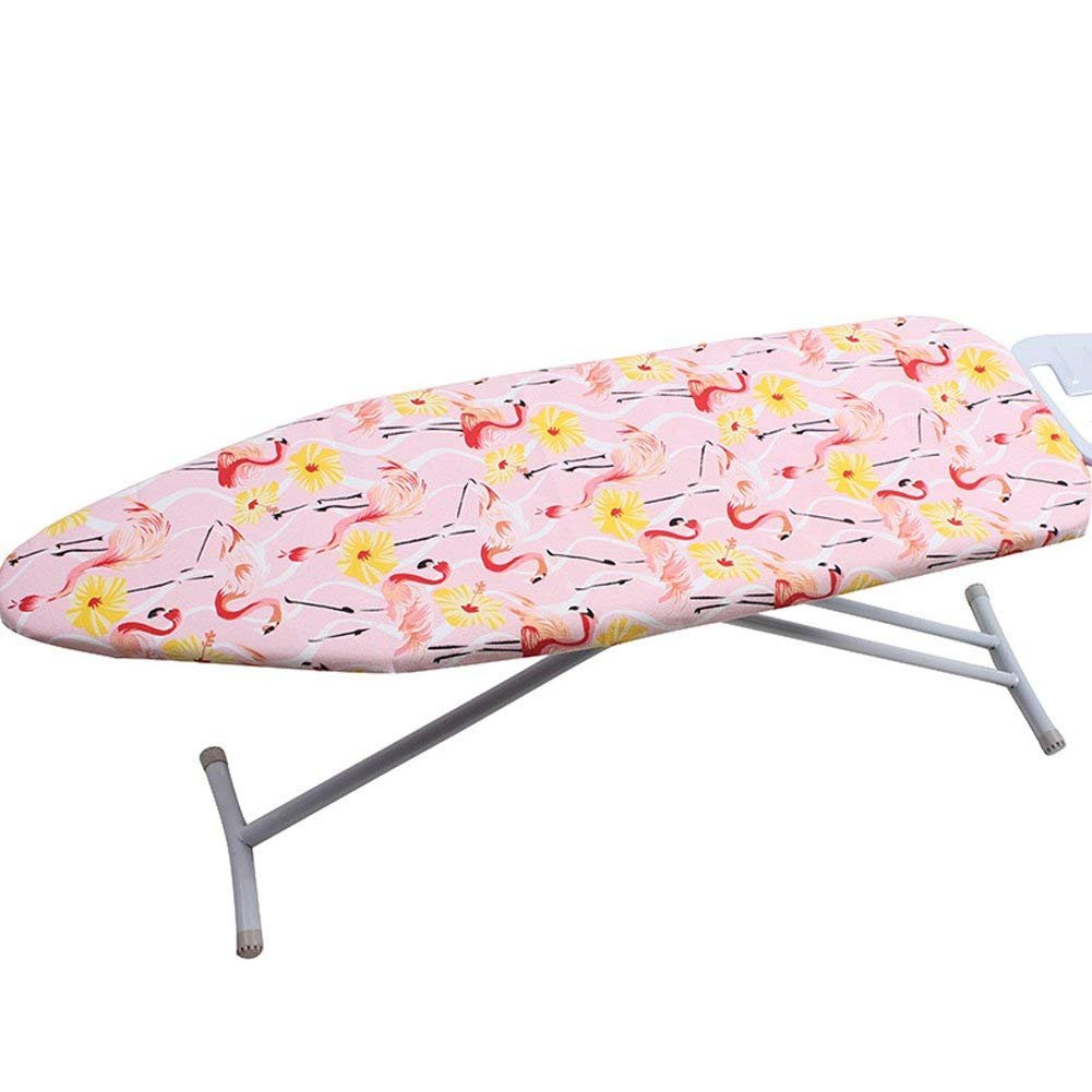 iiSPORT 15 x 51 Flamingo Ironing Board Cover with Waterproof Heat-Reflective 2-Layers Cotton Pad for Scorch /& Staining Resistant Blue