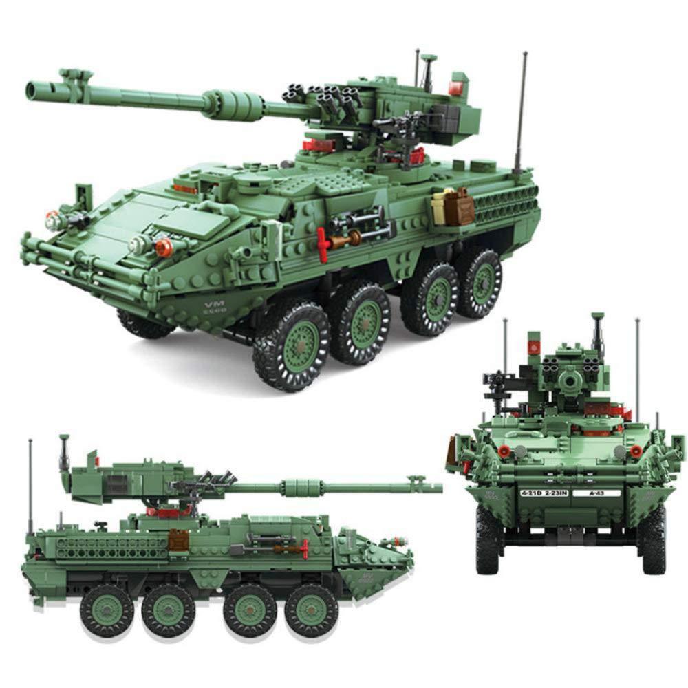 DYMAS Giocattolo Intellettuale Puzzle Building Blocks Assembly serie bambini militare corazzato veicoli giocattoli