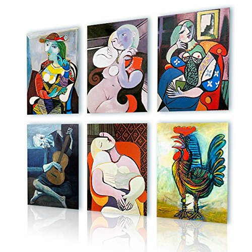(Alonline Art - Marie Terese Rooster Book Guitarist Pablo Picasso PRINT On CANVAS (Synthetic, UNFRAMED Unmounted) 16