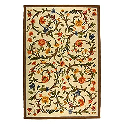 Safavieh Chelsea Collection HK248A Hand-Hooked Ivory Premium Wool Area Rug
