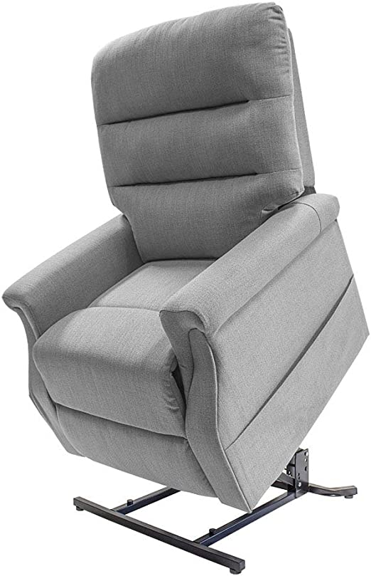 Pro Rider Mobility Babbington Rise and Recline Chair Single Motor Electric Recliner (23st150KG Max User Weight) (Grey)