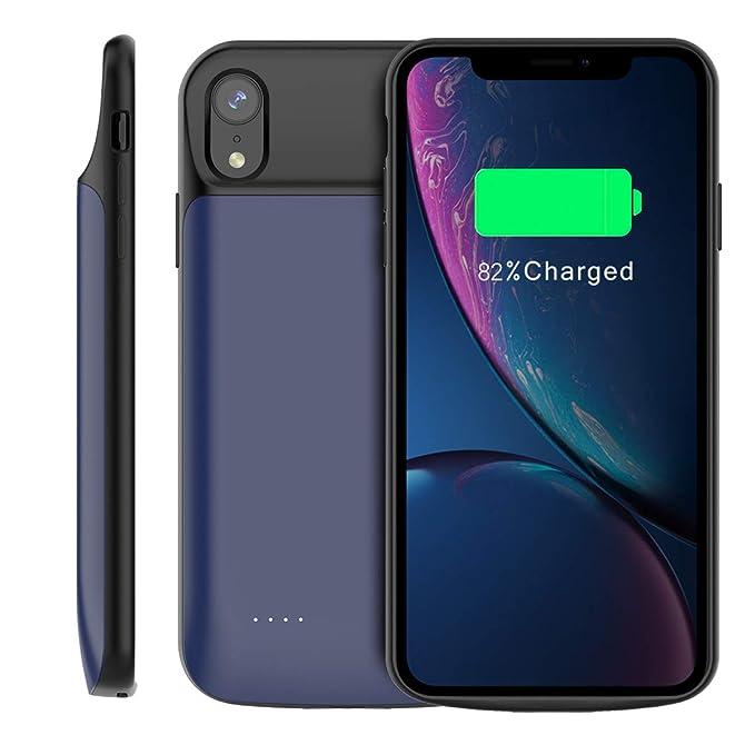 iPhone XR Funda Batería, 6000mAh Recargable Externa Portátil ...