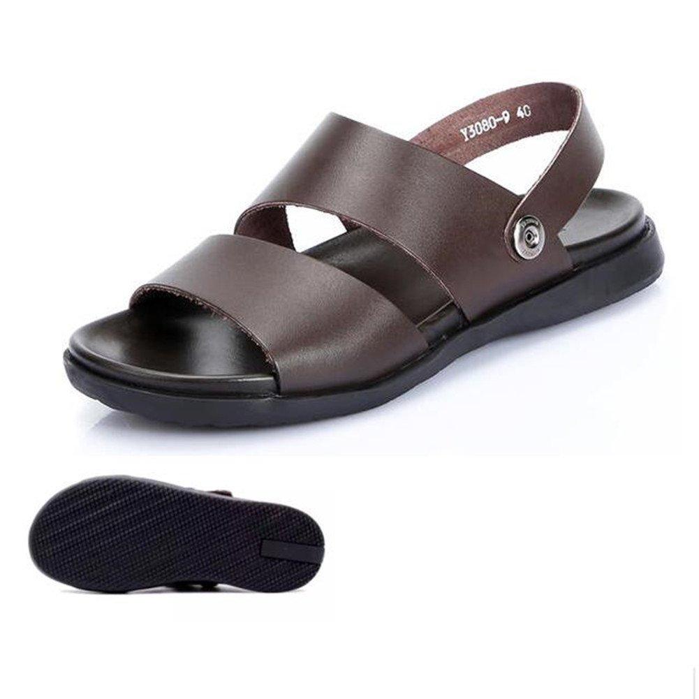 Qingxian Sandale Homme Véritable Cuir Extérieur Sandales Été Occasionnels pour Les Hommes