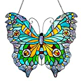 20.5'' H Stained Glass Swallowtail Butterfly Window Panel
