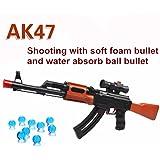 Polade 2-in-1 AK47 Shooting Toys Gun Foam Dart and Water Polymer Ball