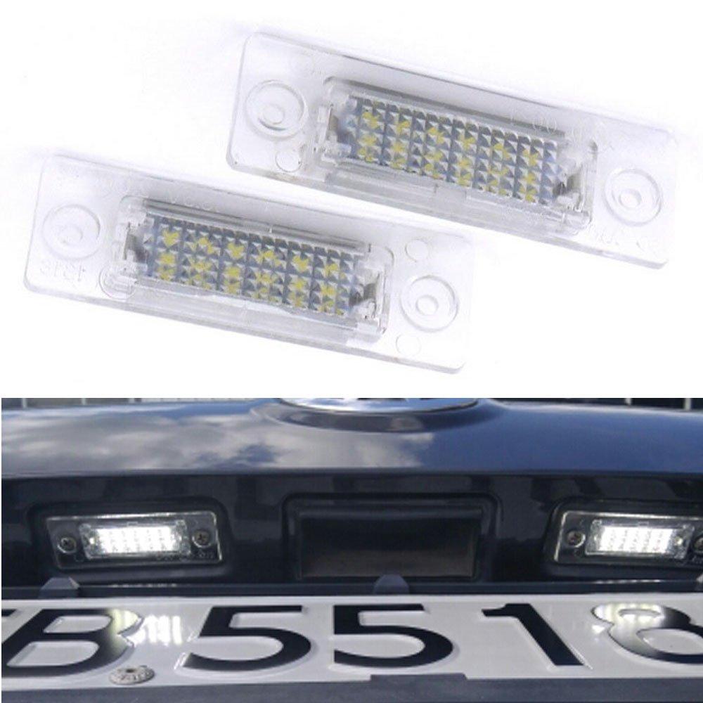 PolarLander 2Pcs 18SMD Rear LED Number License Plate Light Lamp