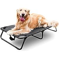 CROWNY Cama elevada para perro portátil de 42 pulgadas/35 pulgadas, cama elevada para perros grandes, cama para mascotas…