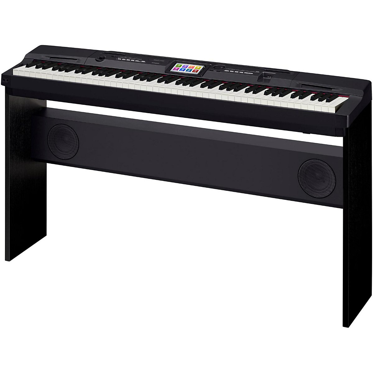 Casio CGP-700BK 88-Key Digital Grand Piano with Color Touch Screen Display and Power Supply by Casio