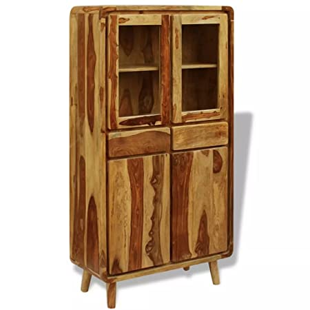 Festnight Sideboard Storage Cabinet Retro Highboard With 2 Drawers For Dining Room Living