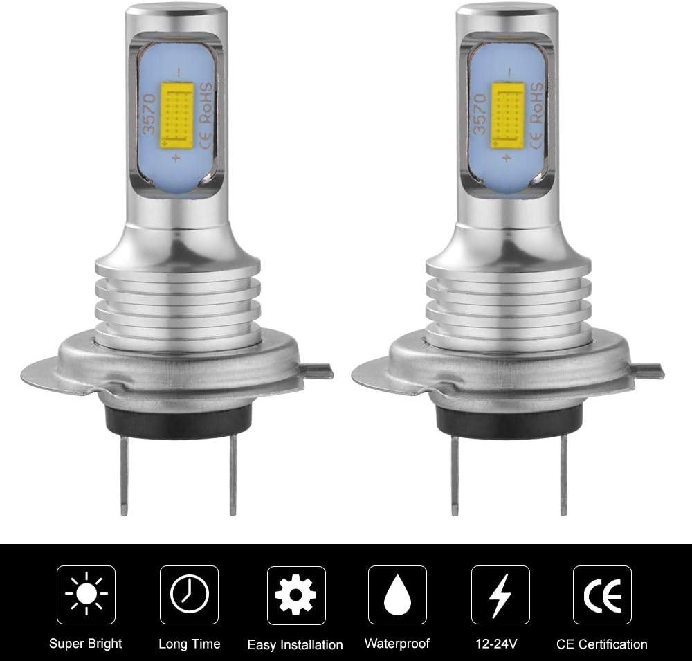 1 par H7 3570 Chip COB Car LED Bombillas 160W 6500K Bombillas antiniebla
