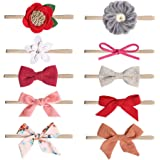 MEIQUAN Baby Girl Headbands and Bows,Newborn Infant Toddler Hair Accessories (10-Pack Different Styles) (Style-1)