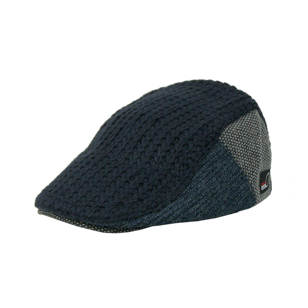 JAMONT Winter Warm Flat Cap Duckbill Hat Newsboy Ivy Irish Cabbie Scally Cap