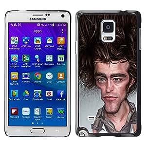 TopCaseStore / la caja del caucho duro de la cubierta de protección de la piel - Joey Caricature Tv Actor - Samsung Galaxy Note 4 SM-N910F SM-N910K SM-N910C SM-N910W8 SM-N910U SM-N910