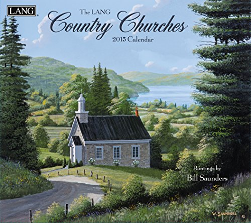 Lang January to December, 13.375 x 24 Inches, Perfect Timing Country Churches 2015 Wall Calendar by Bill Saunders (1001795)