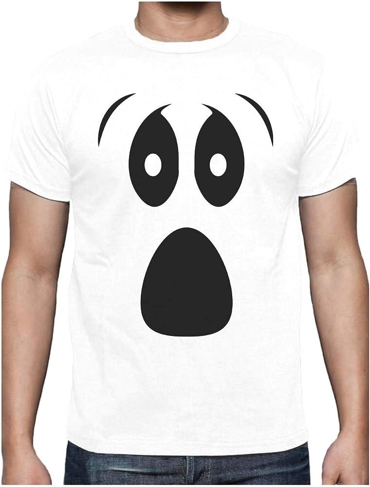 Camiseta para Hombre - Funny Ghoul Face - Disfraz de Halloween para Todas Las Edades Small Blanco: Amazon.es: Ropa y accesorios