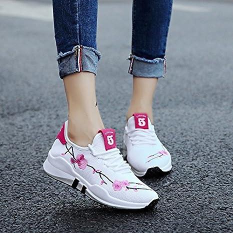 NGRDX&G Zapatos Femeninos Zapatillas Blancas 35-39: Amazon.es: Deportes y aire libre